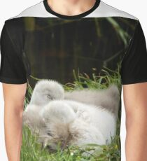 Two Cygnets fast asleep Graphic T-Shirt