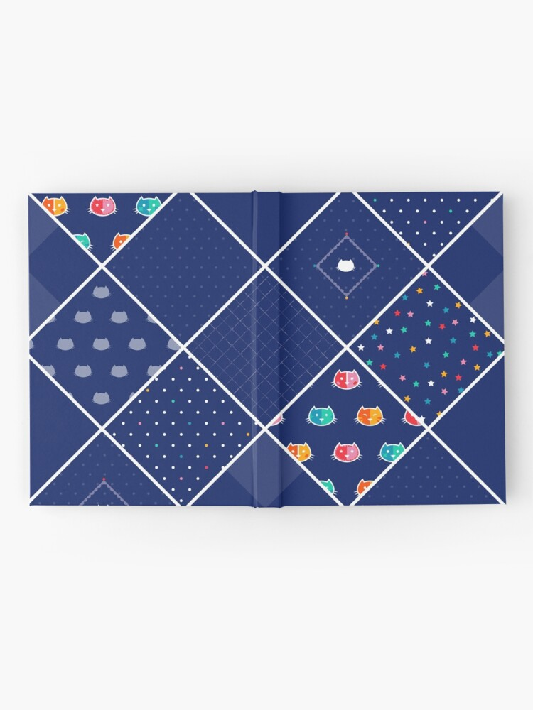 Alternate view of Chromatic cats patchwork Hardcover Journal