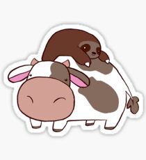 Sloth and Cow Sticker