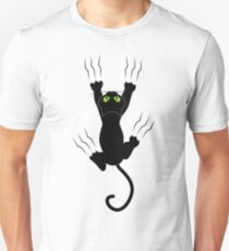 Funny Black Angry Cat T-Shirt I Love Cats Cute Graphic Tee  T-Shirt