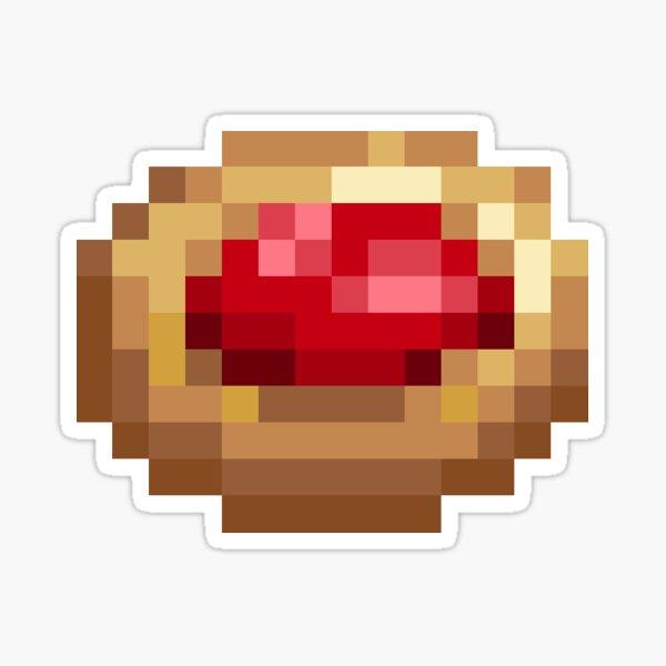 Raspberry Thumbprint Pixel Cookie Sticker