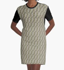 Abstract city buildings Graphic T-Shirt Dress