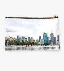 Brisbane City Skyline by Gaye G Studio Pouch