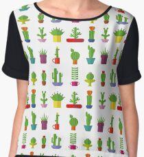Funny Cactus  Chiffon Top