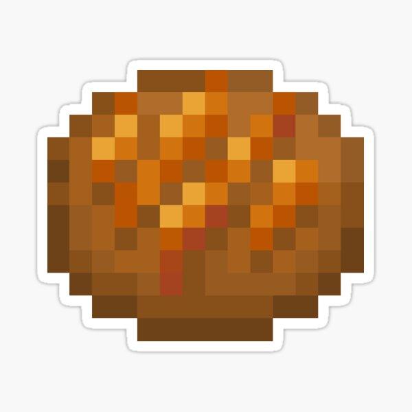Caramel Pixel Cookie Sticker