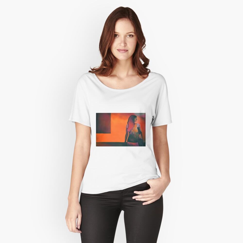 Burning flame, 2014, 120-80cm, oil on canvas Women's Relaxed Fit T-Shirt Front