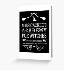 Cackle Academy Greeting Card