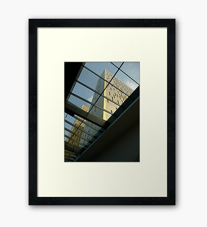 Bring in the light - contemporary architecture  Framed Print