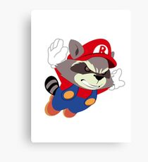 Super Raccoon Suit Canvas Print