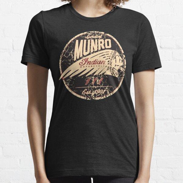 Indian Motorcycle - Spirit of MUNRO 1901 Vintage 111 Classic Biker Logo T-Shirt, Sweat à capuche, autocollant, masque T-shirt essentiel