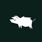 Pig Vector Silhouette by zachsymartsy