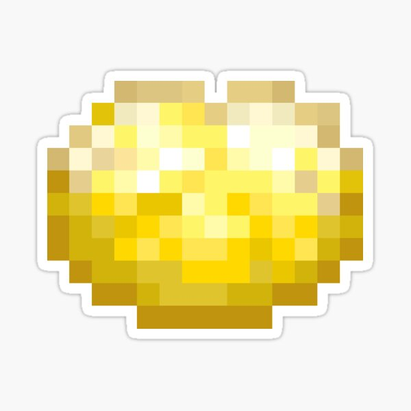 Lemon Pixel Cookie Sticker