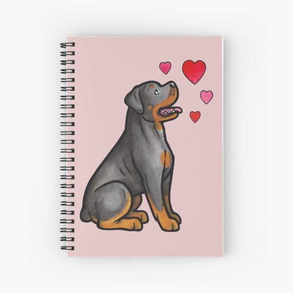 Rottweiler love Spiral Notebook