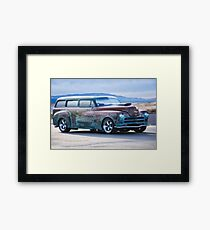 Plymouth 'Patina' Wagon Framed Print