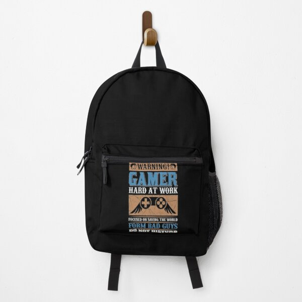 Warning Gamer From Bad Guys Do Not  Disturb Best Gaming Gift  Backpack