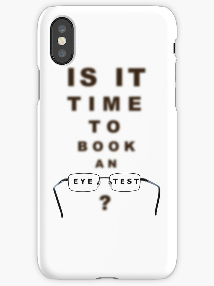 Eye Test Time To Book Chart And Glasses Iphone Cases Covers By