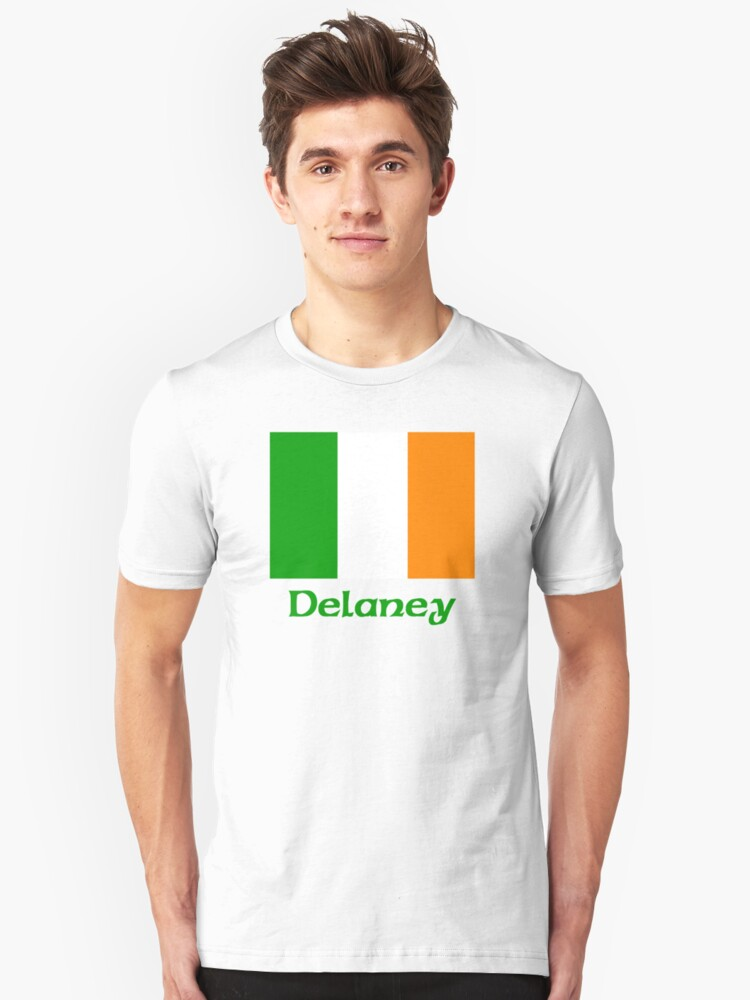 Delaney Irish Flag Unisex T-Shirt Front