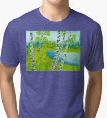 The birch tree forest Tri-blend T-Shirt