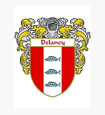 Delaney Coat of Arms/Family Crest Photographic Print