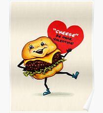Cheeseburger Valentine Poster