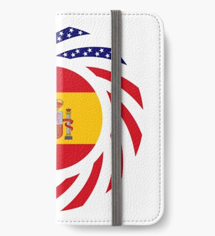 Spanish American Multinational Patriot Flag Series iPhone Wallet