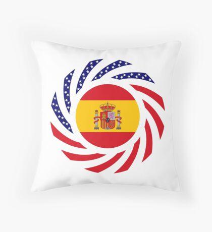 Spanish American Multinational Patriot Flag Series Throw Pillow