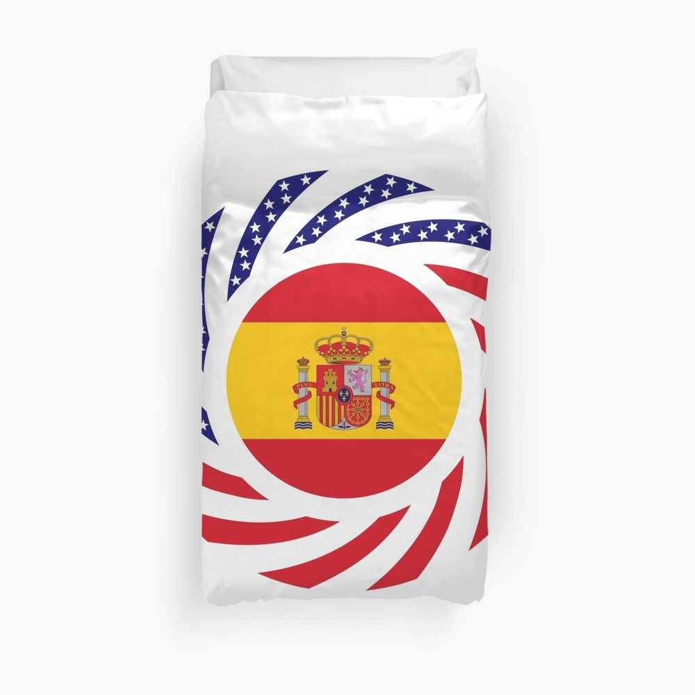 Spanish American Multinational Patriot Flag Series Duvet Cover