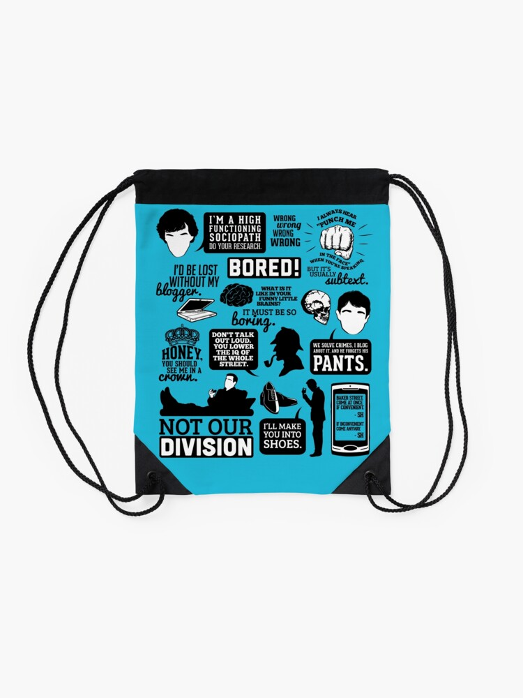 Alternate view of I'd Be Lost Without My Blogger Drawstring Bag
