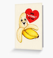 Banana Valentine Greeting Card