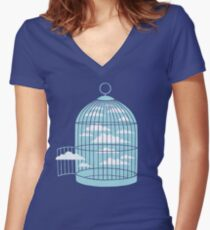 Free as a Bird Women's Fitted V-Neck T-Shirt