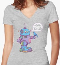 I was going to say something cute and witty...  Women's Fitted V-Neck T-Shirt