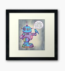 I was going to say something cute and witty...  Framed Print