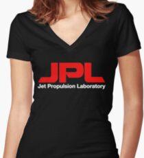 JPL - Jet Propulsion Laboratory Women's Fitted V-Neck T-Shirt