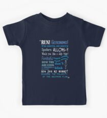 Doctor Who Quoted Kids Tee