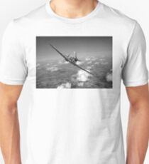 Battle of Britain Spitfire black and white version Unisex T-Shirt
