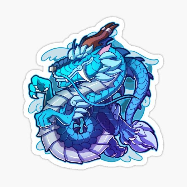 A Cute Asian Dragon Sticker