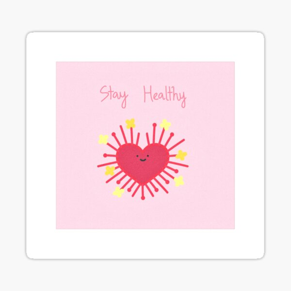 《COVID-19》 COLLECTION 《STAY HEALTHY》 Sticker