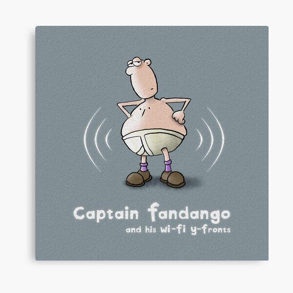 Captain Fandango and his Wi-Fi Y-Fronts Canvas Print