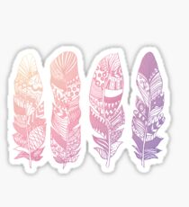 Never too many Feathers Sticker