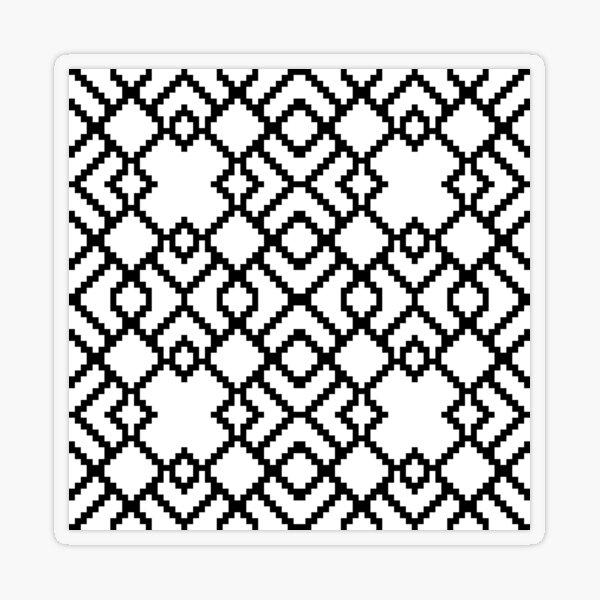Geometric Abstraction Decorative Pattern Transparent Sticker