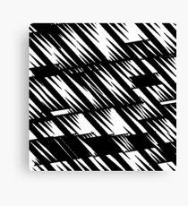 Zacken schwarz Canvas Print