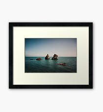Rocks From the Sea Framed Print