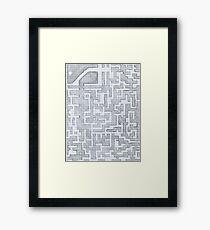 Patterned Graph Paper Doodle  Framed Print