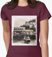 Harbour Office and Boat - Cornwall Womens Fitted T-Shirt