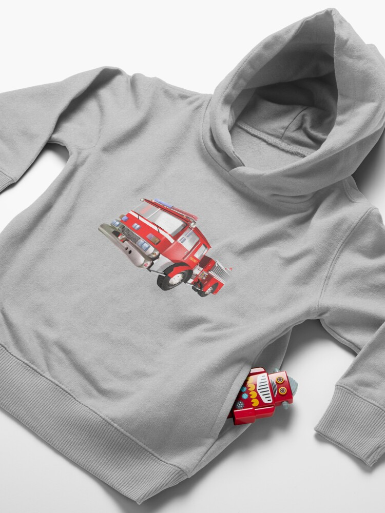 Alternate view of Fire Engine Toddler Pullover Hoodie