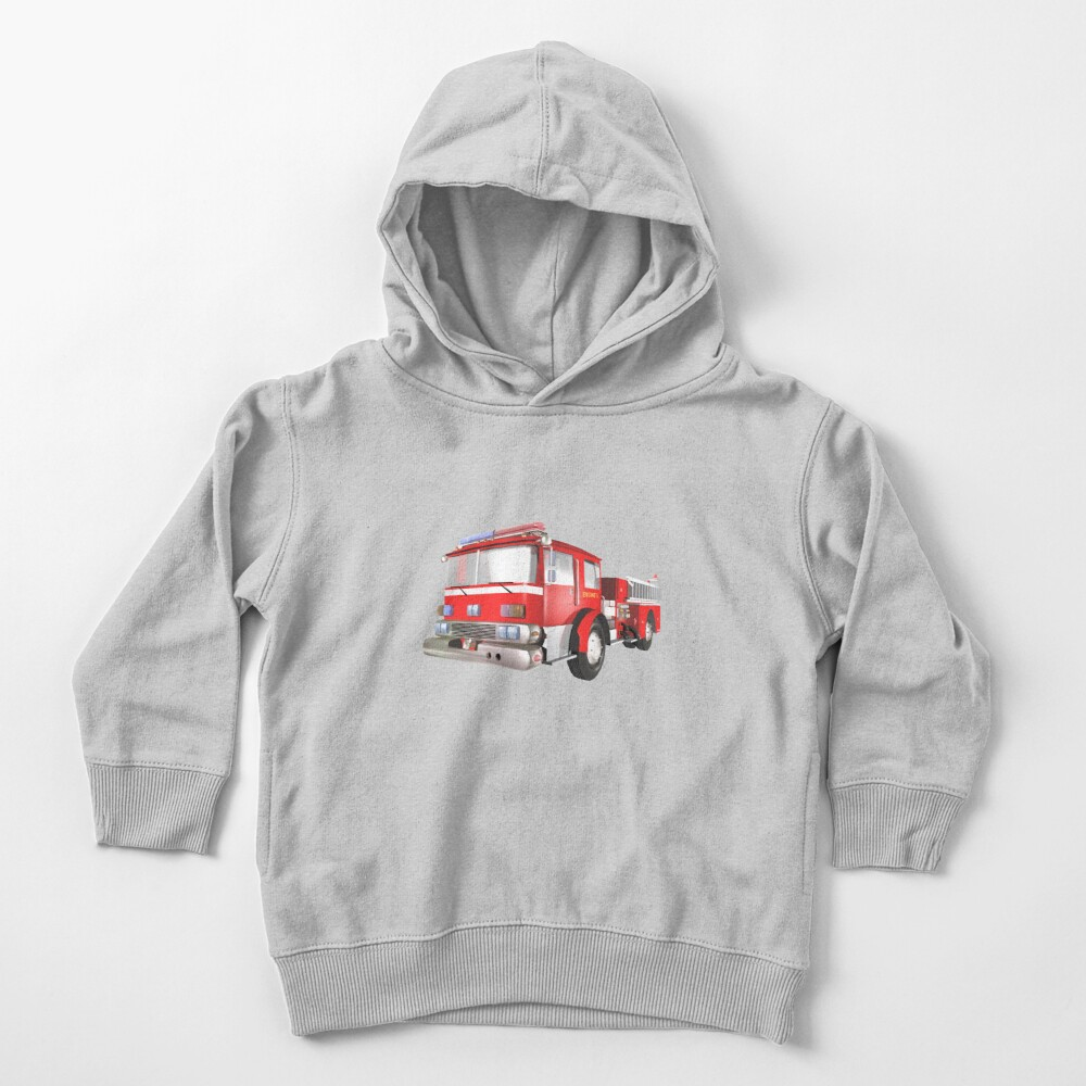 Fire Engine Toddler Pullover Hoodie