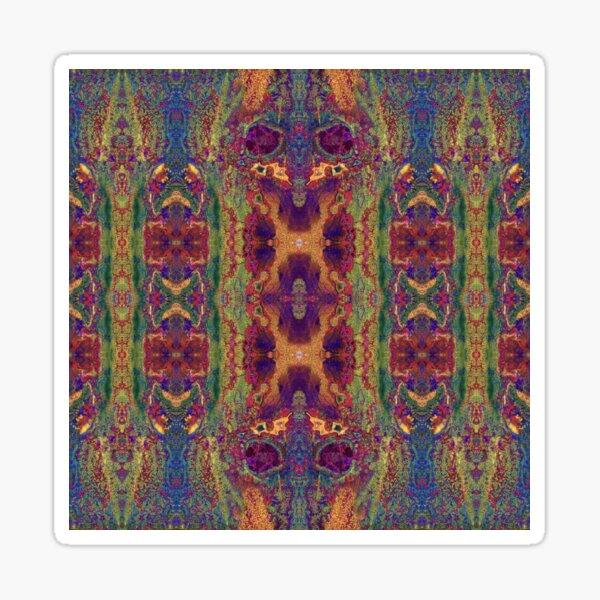 Lithoviso Steindesign: Muster aus selbst gefundenen Edelstein: Jaspis # 5 Sticker