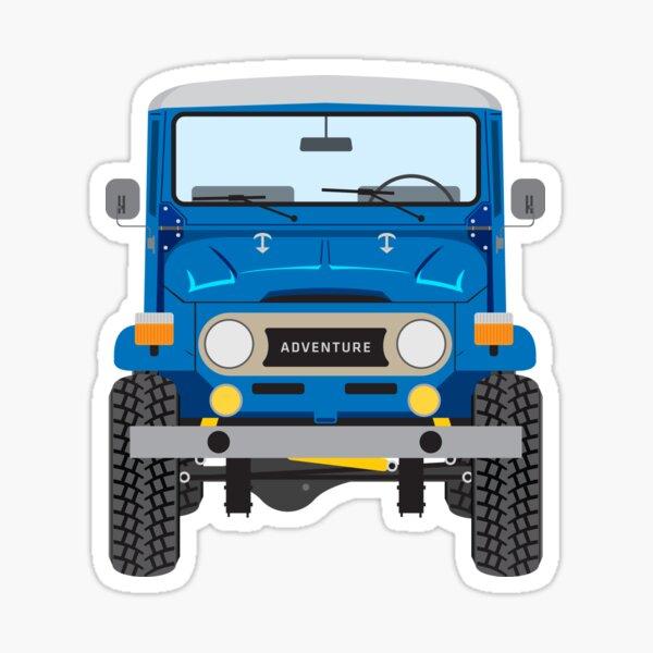 Toyota FJ40 (blue) Sticker