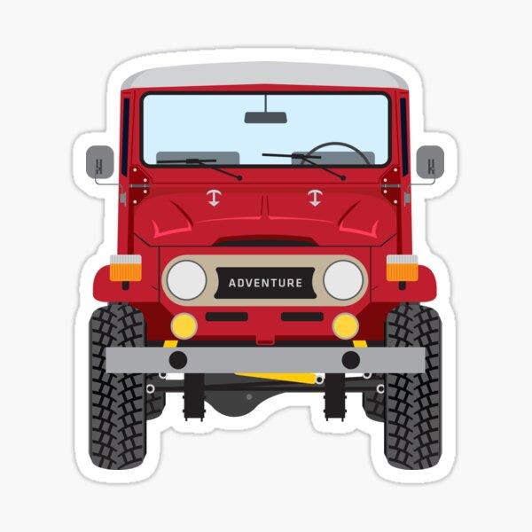 Toyota FJ40 (red) Sticker