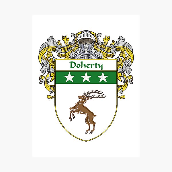 Doherty Coat of Arms/Family Crest Photographic Print